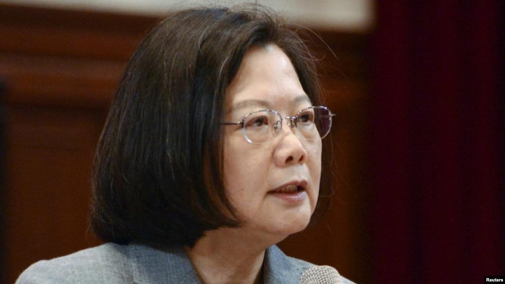 Tổng thống Đài Loan Thái Anh Văn phát biểu trong cuộc họp báo ở Đài Bắc, Đài Loan, ngày 5 tháng 1, 2019.