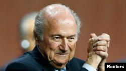 FILE - FIFA President Sepp Blatter