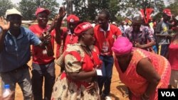 MDC supporters at a rally in Chinhoyi.