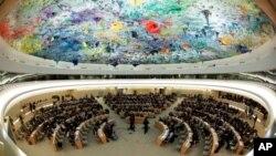 한국 외교부 당국자는 북한인권사무소 한국 설치에 유엔 인권이사회 이사국인 중국의 반대의사 표명이 없었다고 발혔다. 사진은 유엔 인권이사회 회의 장면. (자료사진)