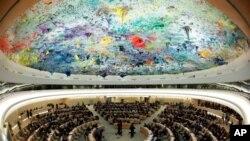 스위스 제네바에서 개최된 유엔 인권이사회. (자료사진)