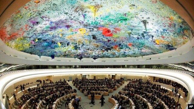 스위스 제네바에서 열린 유엔 인권이사회.(자료사진)