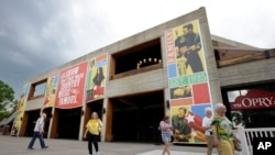 People visit the the Grand Ole Opry House in Nashville.