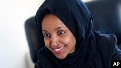 مینے سوٹا سے کانگریس کیلئے اُمیدوار صومالیہ نژاد الہان عمر۔ فائل فوٹو