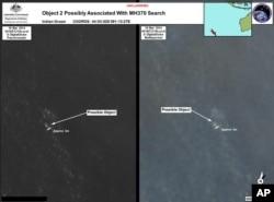 Hình ảnh vệ tinh do Bộ Quốc phòng Australia cung cấp về một vật thể trôi trên biển