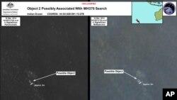 Australijski satelitski snimci mesta u moru gde su primećeni objekti koji bi mogli da budu deo nestalog malezijskog mlaznjaka