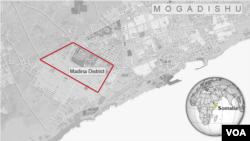 Map of Mogadishu, Somalia