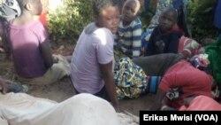 Libota moko lizali kolela bayike na bango bawe na bitumba ya ba ADF na Oicha, Beni, Nord-Kivu, 15 novembre 2019. (VOA/Erikas Mwisi)