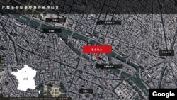 巴黎圣母院袭警事件地理位置示意图