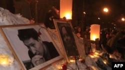 Москва: митинг памяти Станислава Маркелова и Анастасии Бабуровой