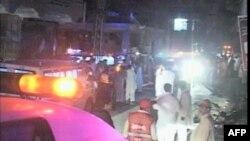 Pakistanda intiharçı bankın girişində özünü partladıb
