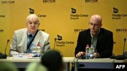 Vladimir Goati (levo) i Nemanja Nenadić
