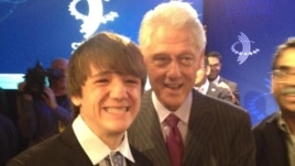 Former President Bill Clinton invited Jack Andraka to participate in an annual meeting of the Clinton Global Initiative in September 2012. (Courtesy Jane Andraka)