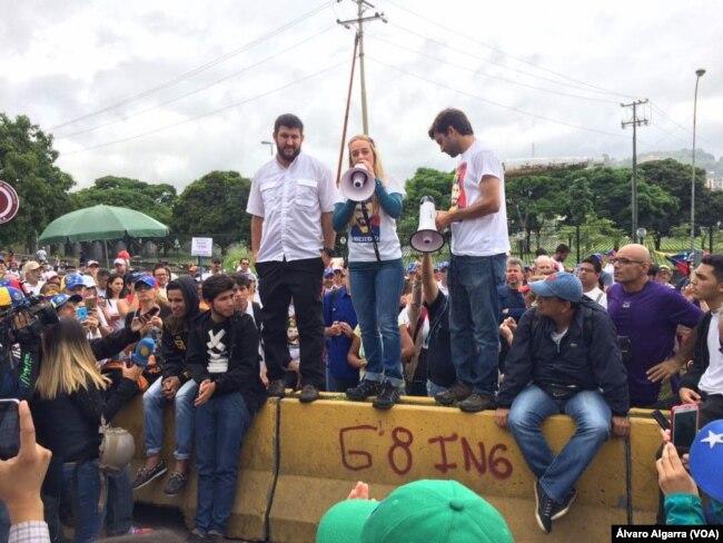 Lilián Tintori en la protesta Gran Plantón Nacional, Caracas, 15 de mayo de 2017.