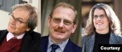 Giải Nobel Vật Lý 2020, một nửa cho Penrose bên trái, và một nửa cho Genzel và Ghez bên phải. (Hình: IOP Publishing/Tushna Commissariat; CC-BY-SA H Garching; UCLA/Christopher Dibble)