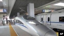 京滬線上的高鐵列車