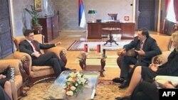 Srpski šef diplomatije i predsednik Republike Srpske tokom susreta u Banjaluci
