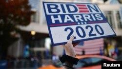 民主党候选人拜登被宣布胜选后支持者庆祝(路透社2020年11月8日)