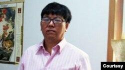 中國民主黨成員、自由撰稿人呂耿松(照片來自楊建利推特)