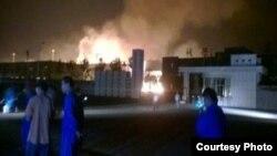 Tin cho hay, 9 người đã bị thương trong vụ nổ nằm cách khu dân cư khoảng 1 km.