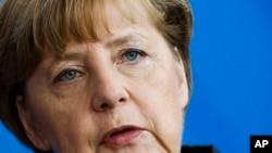 German Chancellor Angela Merkel, Berlin, Germany, Wednesday, Feb. 25, 2015.