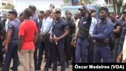 Agentes em protesto