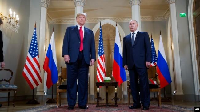 Дональд Трамп и Владимир Путин. Хельсинки, Финляндия. 16 июля 2018 г.