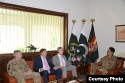 FILE - Senior U.S. officials meet with their counterparts in Pakistan, June 10, 2016. (Pakistan army photo)