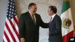 Госсекретарь Майкл Помпео и министр иностранных дел Мексики Луис Видегарай Касо