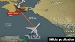 Siberia Airlines-ის ბორტის კატასტროფის სავარაუდო ადგილი