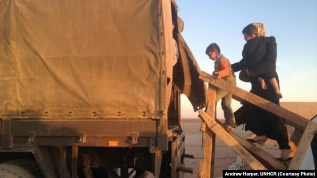 Refugees who have crossed over Jordan's eastern desert border are rescued by Jordan's border forces--as many as 200-500 refugees each night.