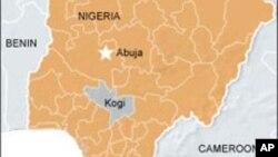 Carte montrant l'état de Kogi, au Nigéria, où a eu lieu l'évasion de 119 détenus le 16 février 2012