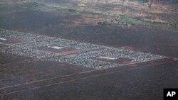 Foto dari udara sebagian dari wilayah Dadaab, Kenya Utara, yang menjadi kemah pengungsi terbesar di dunia (Foto: dok).