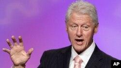 FILE - former President Bill Clinton speaks in Washington, D.C., March 1, 2012.