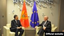 Predsednici Crne Gore i Evropskog saveta, Filip Vujanović i Herman van Rompuj tokom susreta u Briselu, 10. oktobar 2013