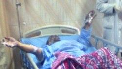 مالک یک رستوران در مصر که خود را در مقابل پارلمان مصر در قاهره به آتش کشید در بیمارستان بستری است. ۱۷ - ژانویه ۲۰۱۱