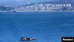 與台灣金門島一水相隔的中國廈門(資料照片)