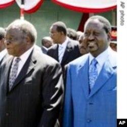 President Mwai Kibaki (L) and Prime Minister Raila Odinga(R)