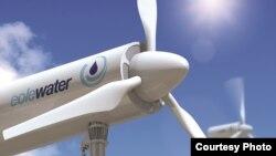 Les éoliennes d'Eole Water sont couplées d'un système inspiré par les climatiseurs, et produisent de l'eau potable