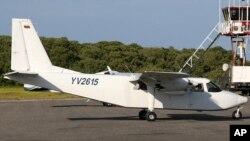 Пропавший самолет перед вылетом из аэропорта Лос-Рокес, Венесуэла. 5 января 2013 года