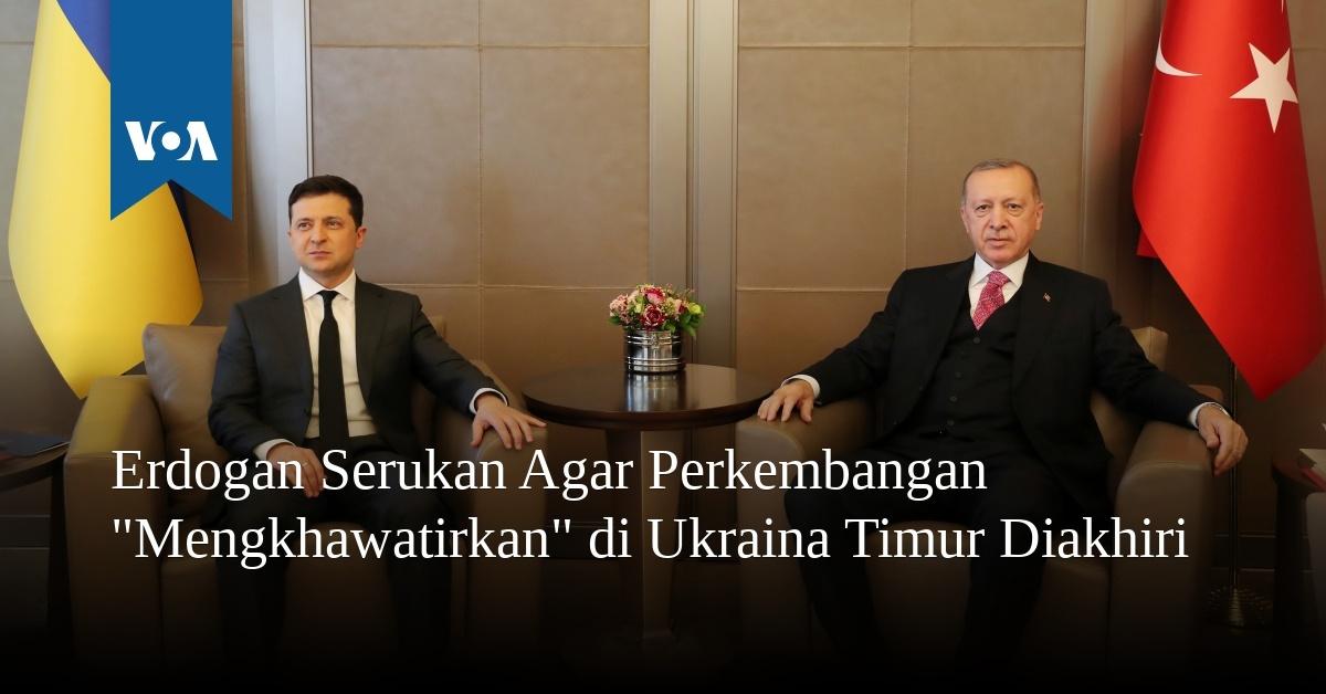 """Erdogan Serukan Agar Perkembangan """"Merisaukan"""" di Ukraina Timur Diakhiri"""