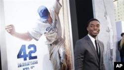 Chadwick Boseman at the premiere of '42'.