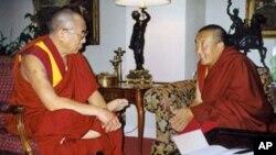 達賴喇嘛和阿嘉仁波切1999年在紐約