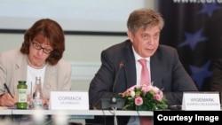 Američka ambasadorica u BiH Maureen Cormack i Predstavnik EU u BiH Lars - Gunnar Wigemark