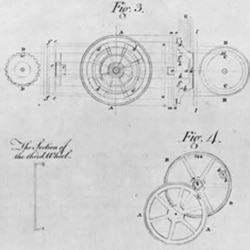 Details of a chronometer designed by John Harrison