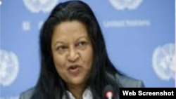 Sheila Keetharuth, mantan anggota komisi dan pelapor khusus PBB untuk penyelidikan kejahatan terhadap kemanusiaan di Eritrea (foto: dok).
