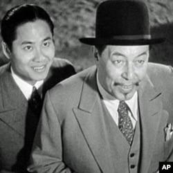 银幕上的陈查理和长子