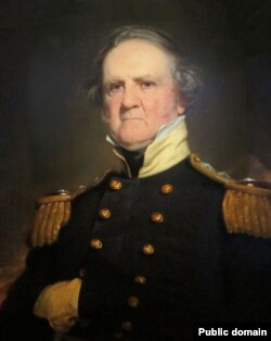 General Winfield Scott in portrait by Robert Walter Weir. Scott was the Whig Party's candidate for President in the 1852 election.