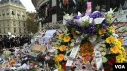 Fransa terror hücumunda ölənlərin xatirəsini anır.