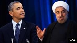 د ایران ولسمشر حسن روحاني د متحده ایالاتو له پخواني ولسمشر براک اوباما سره